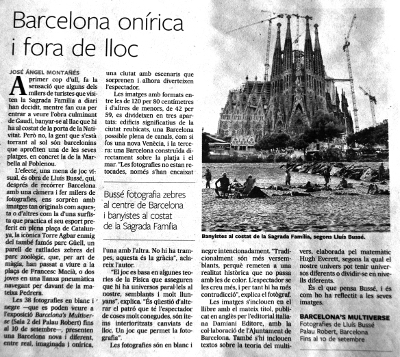 José Ángel Montañés, Barcelona onírica i fora de joc. 20.06.12