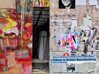 """""""There is no reason not to consider the world as a gigantic painting."""" Tribute to Robert Rauschenberg"""