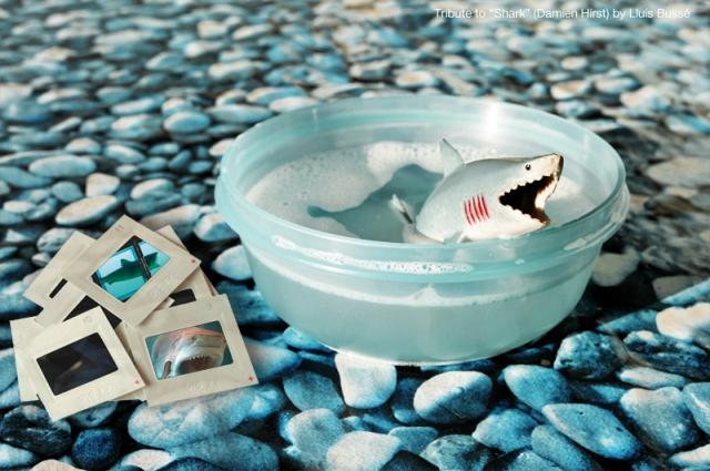 "Tribute to Damien Hirst: ""Shark"""