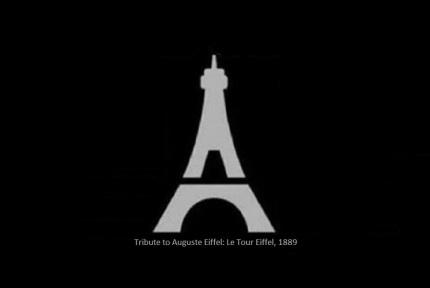 Tribute to Auguste Eiffel: La Tour Eiffel, 1889.