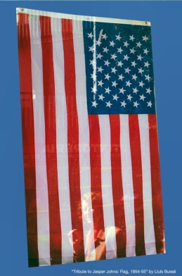 Tribute to Jasper Johns: Flag, 1954-55