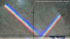 Tribute to Sir Isaac Newton: Spectrum of colours, 1666